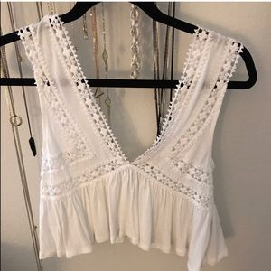 Lace crochet festival top